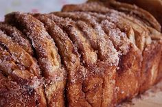 Cinnamon Pull-Apart Bread--with some hot coffee, I could eat the whole loaf. ;)