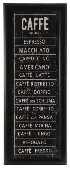 Vintage Coffee Word Art