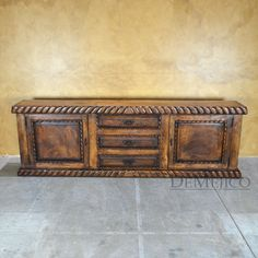 The Chapital Spanish Mesquite Buffet Table Is Made From Mesquite, With  Twisted Rope Carving Along