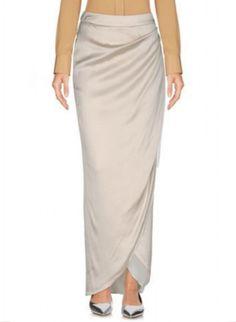 Emporio Armani Long Skirt In 象牙白