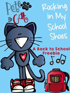 Freebie - cut and glue activity to go along with Pete the Cat