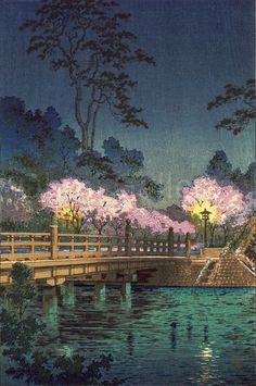 Artist: Koitsu, Tsuchiya (1870-1949) [Tsuchiya Koitsu] Title: Benkei Bridge