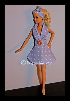 polka dot Barbie dress, my project