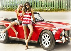#red #car and #girls