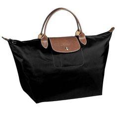 Langchamp outlet store online! 2013 Longchamp classic le pliage medium folding handbag black