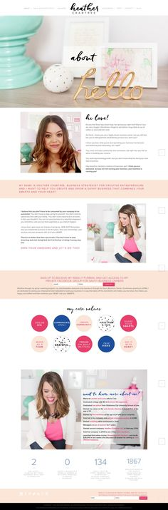 Chic Pink, Blush & Cobalt Website About Page