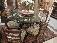 Wonderful glass top table