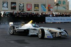 Formula E's new fully-electric race car, the Spark-Renault SRT_01E, made its first ever public demonstration entertaining crowds with a high-speed display around the Mandalay Bay Resort & Casino in Las Vegas.  #cars #formulae #lucasdigrassi #renault #lasvegas #carsglobal #carsgm #carsglobalmag