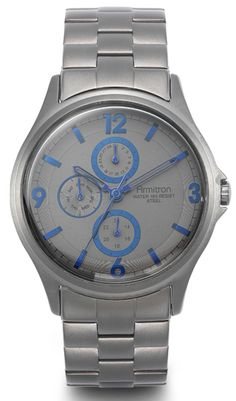 Armitron watch with baby blue features.