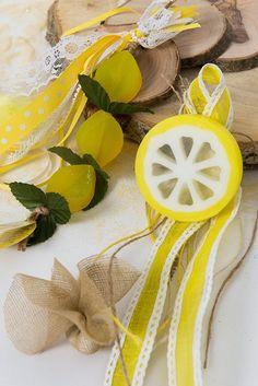Μπομπονιέρα σαπούνι λεμόνι φέτα