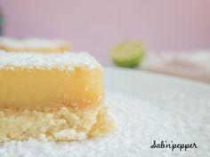 Carré au citron vert ; une recette de gouter facile et gourmande #gouter #gouterfacile #goutercitron