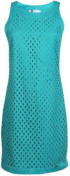 Vestido feminino sem manga de guipir verde água - Visite Riachuelo.com.br