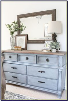 Blue Cottage Style Guest Bedroom Makeover - A dark and dated guest bedroom gets a cottage style makeover with serene shades of blue using Craigslist furniture and budget-friendly finds Furniture, Guest Bedrooms, Interior, Bedroom Makeover, Home Bedroom, Guest Bedroom Makeover, Home Decor, Remodel Bedroom, Interior Design