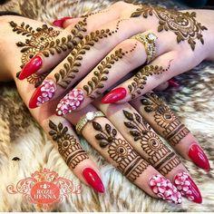 "2,182 Likes, 6 Comments - Ubercode: hennainspire (@hennainspire) on Instagram: ""Henna @zahabia_art"""