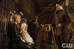 """Reign -- """"Pulling Strings"""" -- Image Number: RE409b_0166.jpg -- Pictured (L-R): Celina Sinden as Greer and Dan Jeannotte as James -- Photo: Ben Mark Holzberg/The CW -- © 2017 The CW Network, LLC. All Rights Reserved"""