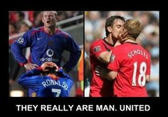 Check out Manchester United funny picture and laugh at thousands other hilarious pics and witty images. Funny Qoutes, Funny Memes, Hilarious, Best Love Stories, Love Story, Ynwa Liverpool, Funny Photo Effects, Funny Photoshop, Better Love