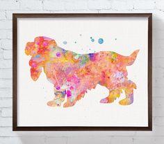 Image via We Heart It #art #cockerspaniel #dog #illustration #painting #wallart #walldecor #watercolor