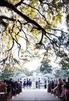Forsyth Park Wedding - Savannah, GA - My cousin Tara was married here.