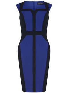 Navy and Colbat Dress