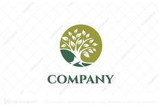 Green Tree Logo Premium Logos For sale! Environment Logo, Education Logo Design, Plant Logos, Globe Logo, Spa Logo, Tree Logos, Brand Fonts, Premium Logo, Nature Plants