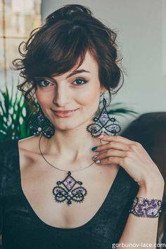 Lace Earrings, Lace Necklace, Corsage, Bobbin Lace, Orient, Bracelets, New York, Travel, Fashion