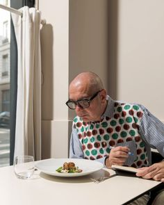 Andrea Petrini dines at Takao Takano Restaurant in Lyon, France