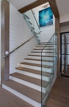 Glass Stair Railing, Staircase Glass, Staircase Wall Decor, Stair Walls,  Staircase