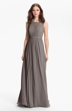 Jenny Yoo 'Vivienne' Pleated Chiffon Gown available at #Nordstrom For Leeanne's Mother of the Bride dress.