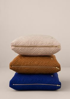 QUILT CUSHIONS Designedby Trine Andersen | ferm Living available at Modern Intentions. Shop here for modern throw pillows!