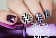 Chevron Stamping with Models Own Colour Chrome