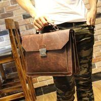 Tidog New han edition crazy horse leather fashion men's bags handbag briefcases multi-function single shoulder bag