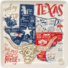 Texas State Dish Towel Primitives by Kathy Texas State Pop Art Dish Towel Bright & Colorful Cotton Towel measures 28 inches square Great Gift for any Texas Lover! Everything that Texas is best known for Popular Cities Arte Equina, Texas Home Decor, Texas Kitchen, Only In Texas, Texas Bbq, Austin Texas, Texas Forever, Loving Texas, Texas Pride