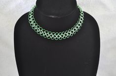 European 4 in 1 Choker Necklace  Green by StormcrowDesigns on Etsy, $20.00