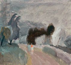 urgetocreate:Ivon Hitchens, Grey Willows by the Coast