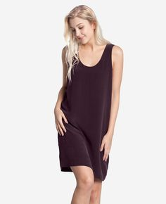 <div class='description'> It made perfect sense to turn our best-selling silk tank in to a dress. Comfort and versatility is king. Well, queen.  <ul> <li>Crafted from 100% Crepe de Chine</li> <li>Fully lined for the perfect drape and flow</li> <li>Hand cut to ensure a perfectly precise fit</li> </ul>