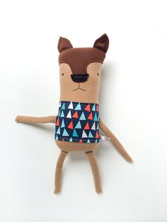 Plush Fox Friend- Finkelstein's Center Handmade Creature