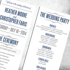 Custom Wedding Programs Cheap Programs by TheDesignBrewery on Etsy