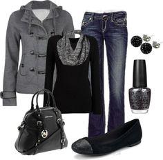 Love the black  grey!!