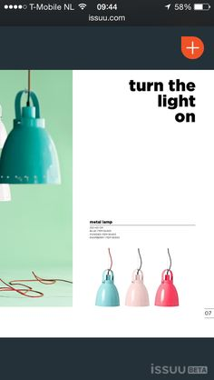 Made By Deer nursery lamp aqua