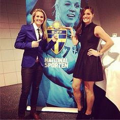 Ashlyn Harris, Ali Krieger at the Swedish Football Gala. (akrieger11/Instagram)