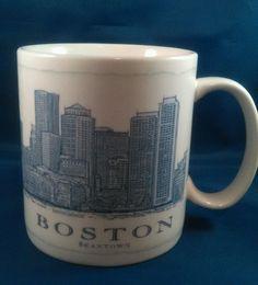 Starbucks City Mug Boston Beantown 2007 Architect Series 18 oz Coffee Tea Cup MA #Starbucks