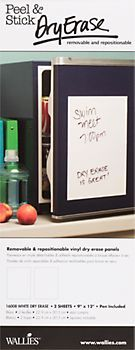 Wallies Removable Dry Erase Panels