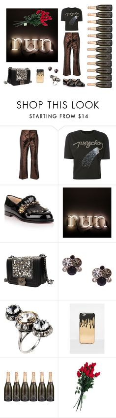 """#first date"" by beaujes ❤ liked on Polyvore featuring N°21, Olympia Le-Tan, Christian Louboutin, Seletti, Lanvin, Missguided and Hanky Panky"
