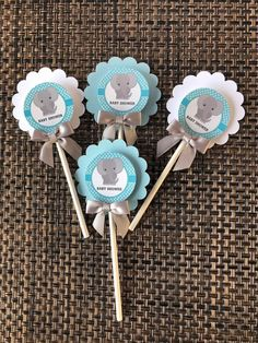 Details about elephant cupcake toppers/ elephant theme/ elep Distintivos Baby Shower, Baby Shower Brunch, Boy Baby Shower Themes, Baby Shower Signs, Baby Shower Printables, Baby Shower Cupcake Toppers, Shower Cake, Elephant Baby Showers, Baby Elephant