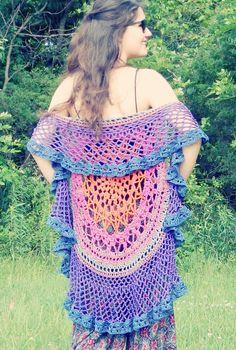 FREE PATTERN:  Lotus Mandala Circle Vest