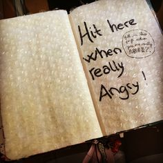Fill this page when you are really Angry - bubblewrap