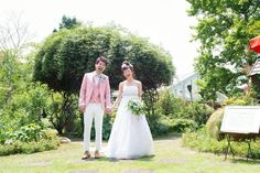 春夏ガーデンウエディングにいいですよー Lilac, Wedding Dresses, Closet, Fashion, Bride Dresses, Moda, Bridal Gowns, Armoire, Fashion Styles