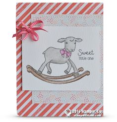 CARD: Sweet Little Lamb Baby Card from Little Cuties | Stampin Up Demonstrator - Tami White - Stamp With Tami Crafting and Card-Making Stampin Up blog