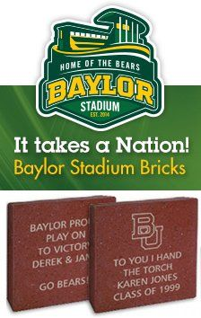 Need a last-minute Father's Day gift? Honor your dad for years to come with a #Baylor Stadium Brick! (click for details)