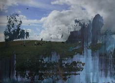 Overpainted Photograph N°002 - oil on photograph [30 x 40] / 2012 - [Devils Dyke - UK]